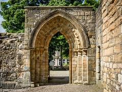 Arch at Kilwinning Abbey 20 May 2017 (Jake the Pointer) Tags: abbey abtei abbaye abadía abbazia gothic gothique gotisch gotico monastère monastery monestir monasterio monastero kloster klosterruine klasztor kolostor ruine ruina rovine abdij