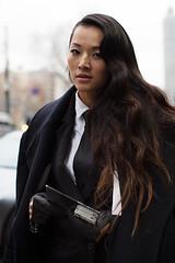 Tina Leung 7 (drno_manchuria (simonsaw)) Tags: fashion moda suit tie necktie shirt camisa traje corbata terno gravata krawatte cravata knot nudo menswear collar masculina encorbatada trajeada up chick women mujer