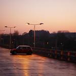 Winter sunset at the railway station thumbnail