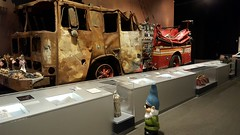Fire truck smashed by WTC 9/11 (Capital District, New York) Tags: worldtradecenter firetruck wtc 911 september11 albany newyork capitaldistrict tourism gnome museum