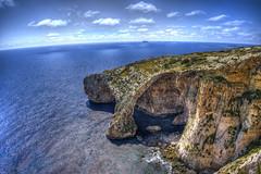 Blue Grotto - Valleta, Malta (Aperture Life Photography) Tags: valletta malta blue grotto ocean seascape cave cavern water green rock travel landscape sky cloud sea island europe