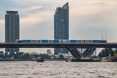 Sky train Bangkok (21mapple) Tags: bangkok sky train skytrain bridge saphin taksin chaophrayariver