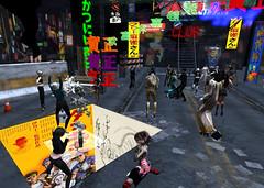 BlueOrangeTokyo6 (grady.echegaray) Tags: tokyo neon japan worldmusic blueorangeclub bohemianclub slstyle slfashion secondlife avatar danceparty dancing