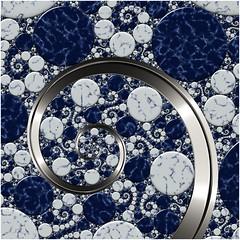 Rhapsody in Blue (Ross Hilbert) Tags: fractalsciencekit fractalgenerator fractalsoftware fractalapplication fractalart algorithmicart generativeart computerart mathart digitalart abstractart fractal chaos art kleinian circleinversion tiling orbittrap