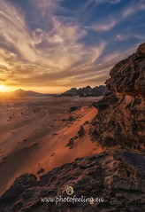 Jordan Spectacular sunset in the red desert (joana dueñas) Tags: sky spring desert reddesert wadirum jordan joanadueñas photofeeling clouds rockymountains holidays outdoors redsand sand sun sunset
