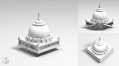 Dome construction (wip) (moctown) Tags: lego dome construction technique balloon mosque church