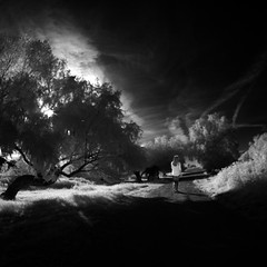 aren't  roads without shadows (old&timer) Tags: background infrared blackandwhite song4u oldtimer imagery digitalart laszlolocsei