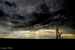 Dramatic Skies after the Storm (moniquef123) Tags: storm thunderstorm dramatic ominous clouds kansas weather photgraphy therebeastormbrewin landscape skies nature