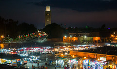 Djemaa el-Fna (upchurch_gt) Tags: morocco djemaaelfna marrakech medina jamaaelfna city mosque