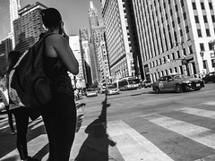 Fuji Finepix Z90 street photos 3rd week May 2017 B-W pic44 (Artemortifica) Tags: blueline cta chicago finepixz90 fujifilm fujinon lakest may michiganave state blackandwhite bridges buildings buses candid commuters downtown performance redline street trains