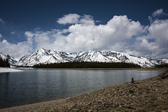 Colter Bay and Shoreline (Patrick James Colorado) Tags: teton tetons grandtetonnationalpark gtnp rockymountains mountains mountain nature landscape scenery scenic lake water colterbay bay