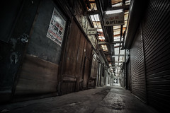 Long Alley (ScottSimPhotography) Tags: alley urbex urban japan nara japanese perspective vanishingpoint wideangle naramachi old decay passage abandoned explore dark darkness scifi ghost spooky moody dramatic