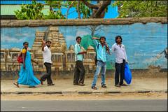 Hello. Bangalore (Claire Pismont) Tags: asia asie inde india pismont clairepismont colorful couleur color colour walking wall travel travelphotography viajar voyage blue bangalore karnataka