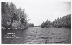 c. 1935 Real Photo Postcard #B4 - The Narrow's / Black Bay near Petawawa, Ontario, Canada (Baseball Autographs Football Coins) Tags: narrows blackbay petawawa ontario canada petawawariver ottawariver postcard realphoto