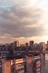 City (awaylastdays) Tags: pentax me super pentaxmesuper kodak portra abstract architecture sun kodakportra sunrise color clouds sky colors summer city highrise building beaty cherkassy cherkasy ukraine outdoor ua