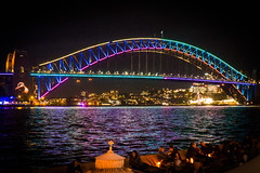 VIVID 2017 Vivid Sydney Harbour Bridge