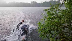 rain (marcostetter) Tags: wet wetclothing wetclothes wetlook wetjeans wetshirt water lake landscape bluejeans barefoot fullyclothed rain
