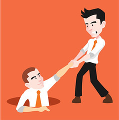 Man helping to his friend. Vector flat illustration (claudiafux) Tags: assist leader handshake aid failure business vector escape success friendship trouble teamwork partnership guide cooperation graphic service people hold creations idea helpful team flat partner friend support illustration reach guidance relationship hope care strength design solution men good kindness help motivation advice assistance boss work rescue office hand colleague businessman russianfederation