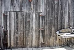 Shipwright's Workshop Door (sswj) Tags: door weathered woodbuilding chinacamp historicbuilding scottjohnson nikon d600 nikkor28300mm availablelight existinglight composition wood shipwright dslr fullframe chinacampvillage marincounty sanrafael nautical northerncalifornia sanpablobay