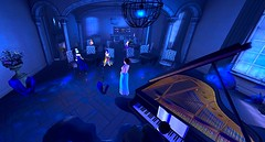 Summer Ocean of Blue (Hollow's End) Tags: second life sl hollows end he rp roleplay role play virtual world social night club hotel urban horror event nocturne alcohol drinking champagne aristocrats noble investigators dark sapphire delight roses