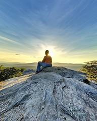 Sunshine on my Shoulder (VonShawn) Tags: sunset sunburst sunstar mountains linvillegorge northcarolina jonasridge nature