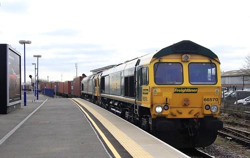 66570 &66555 Freightliner Banbury 14-03-17