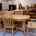 Hardwood oval extendable E220 4 chairs