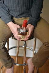 makers (VespertinePix) Tags: alcohol whisky whiskey bourbon cocktail bartending bartender drunk makersmark jack daniels liquor shots portrait legs boy handsome man fun silly stool staged indoor shoot drink drinks