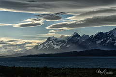 The end of the day (marko.erman) Tags: patagonia chile andes magellanes landscape glacier iceberg clouds nature pov beautiful sunny panorama artctic windy wild rough torres paine mountains peaks neige montagne paysage torresdelpaine lake mood moody