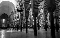 Mosque–Cathedral of Córdoba (emilienerot) Tags: andalousie andalucia espagne espana spain andalusia summer été printemps spring monochrome blackandwhite noiretblanc cordoue cordoba cathedral cathedrale mezquita mezquitacatedral mosquecathedral mosqueecathedrale