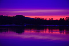 I saw the sky. (Photolove2017) Tags: ottawagatineau ontario canada colors ottawariver nikondx nikon interprovincial spring tiaphoto photolove2017 reflection snow blue dusk shades