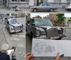 mercedes, 16.06.2017 (gerard michel) Tags: auto mercedes sketch croquis