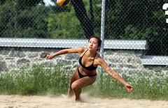To Dive or Not to Dive (Danny VB) Tags: beachvolleyball volleyball jmance sand sports volley beach girl women competition tournament montreal downtown quebec canada classiquedugrandprix spring printemps action photo photography dannyboy canon 7d