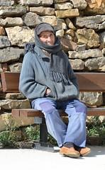 Anciano maño tomando el sol en invierno, Teruel. (eustoquio.molina) Tags: maño hombre viejo man old teruel retrato portrait