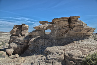 Tortured landscape in the Bisti Wilderness