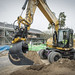 Cat M313 with engcon Tiltrotator