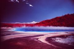Yellowstone National Park (cris_that1) Tags: yellowstonenationalpark infrachrome fpp film photography project aerochrome grandprismaticspring wyoming montana 35mm minolta srt101