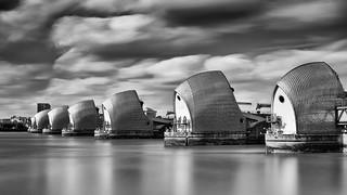 Thames Barrier bw