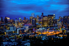 Seattle Skyline (sibnet2000) Tags: seattle washington skyline seattleskyline hdr photomatixpro tamron2470f28 canon5dmarkiv bhykrackepark