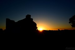 22:52 - silhouette (ScootaCoota Photography) Tags: silhouette sun sunset dusk dark black sky bunkhouse linhay perrys paddock cottage old limestone building house architecture george shenton snr nikon photo photography 52 weeks photos 52weeks theme week22theme nature outdoors