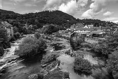 Llangollen (A Crowe Photography) Tags: llangollen blackandwhite blackwhite bwflickr flickrbw wales welshflickrcymru welshphotography welshlandscape northwales water river
