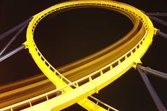 Dominator at Night (Fire At Will [Photography]) Tags: fire will photography fw photo kings dominion virginia va theme amusement park 2015 night halloween haunt loop dominator motion movement roller coaster attraction
