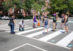 2017.06.10 Painting of #DCRainbowCrosswalks Washington, DC USA 6330