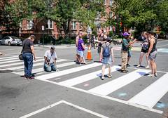 2017.06.10 Painting of #DCRainbowCrosswalks Washington, DC USA 6330