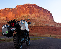 Tiger Mesa (Staring Skyward Photography) Tags: 2017 adv adventure advrider bike capitolreef capitolreefnationalpark landscape motorcycle mountain national nationalpark nature orange outdoors park scape sunset tiger tiger800 tiger800xcx travel triumph usa utah west nice