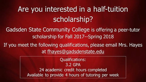 Gadsden State Community College Peer Tutor Scholarship