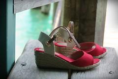 Red is my color (nathaliedunaigre) Tags: red rouge shoes sandales été summer color couleur colored coloré