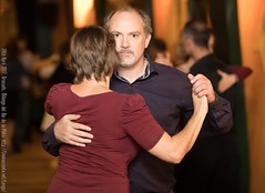 Cathy and Jean-Pierre, Brussels, Milonga del Rio de la Plata, April 2017