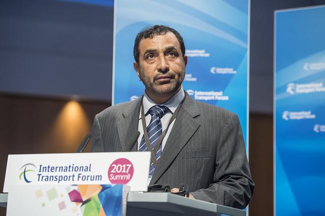 Abdullah Salem Al Katheeri speaks at the Closed Ministerial