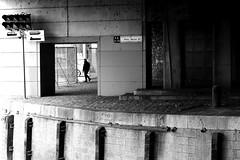 At the exit of the bridge (pascalcolin1) Tags: paris12 arsenal pont pontmazas bridge homme man grid grilles ombre lumière light shadows photoderue streetview urbanarte noiretblanc blackandwhite photopascalcolin